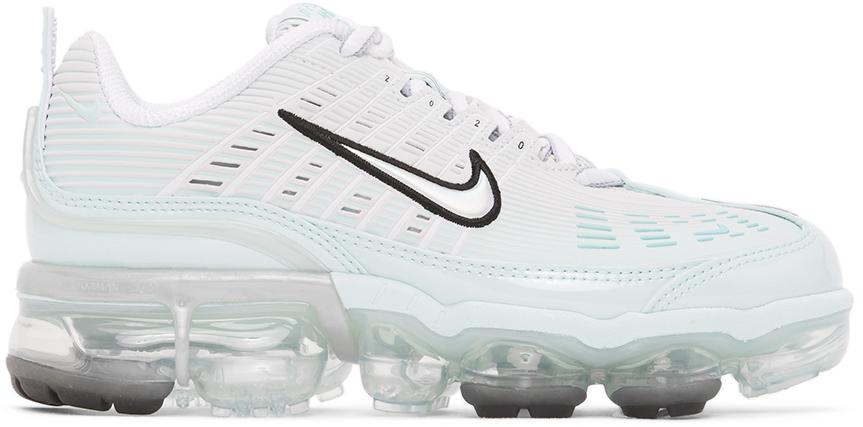 Nike White & Blue Vapormax 360 Sneakers