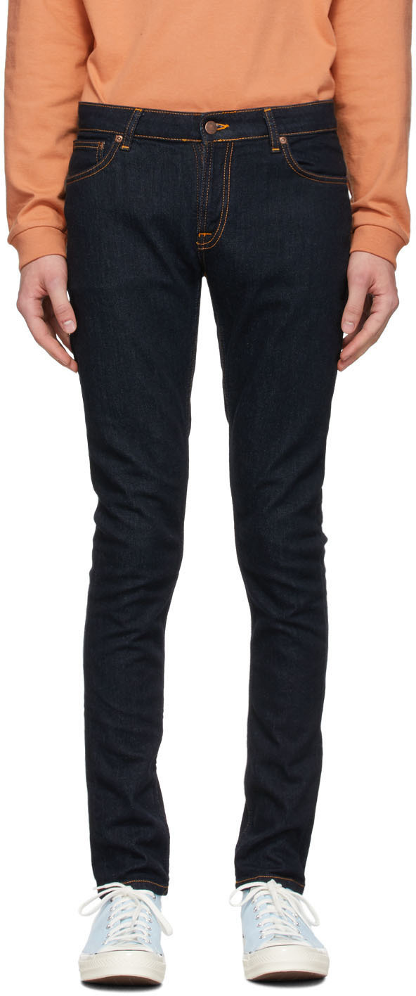 Nudie Jeans Indigo Skinny Lin Dry Jeans