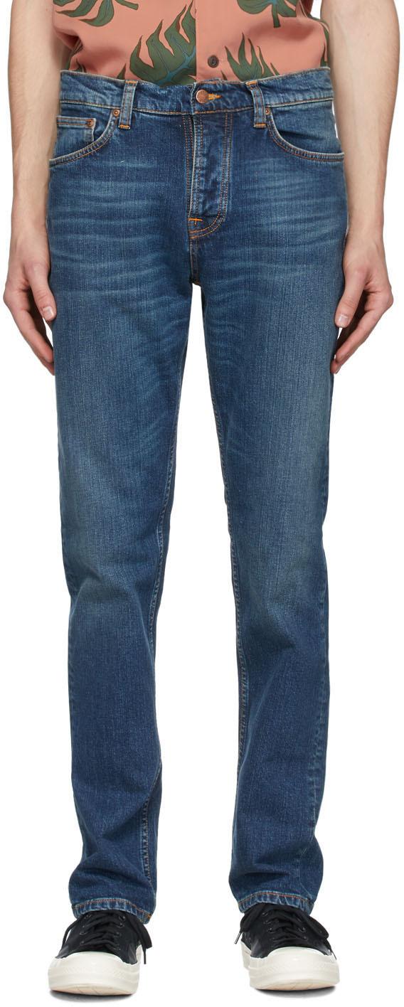 Nudie Jeans Blue Steady Eddie II Jeans