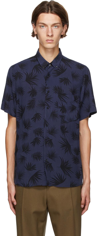 Hugo Navy Ekilio Short Sleeve Shirt