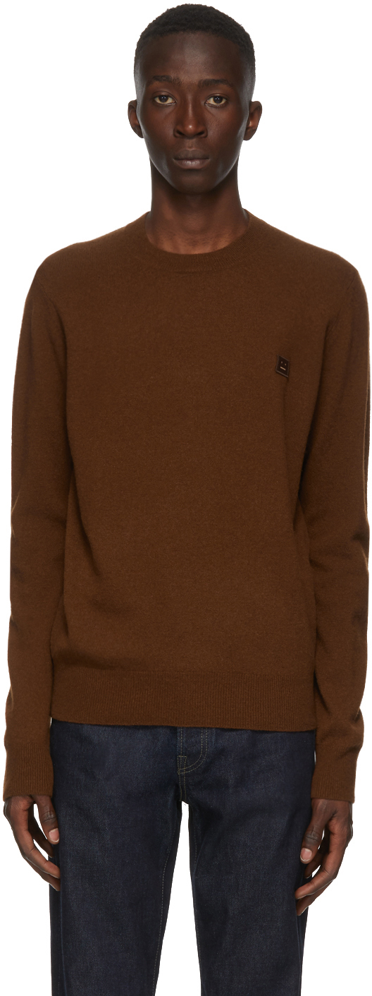 Acne Studios Brown Wool Crewneck Sweater