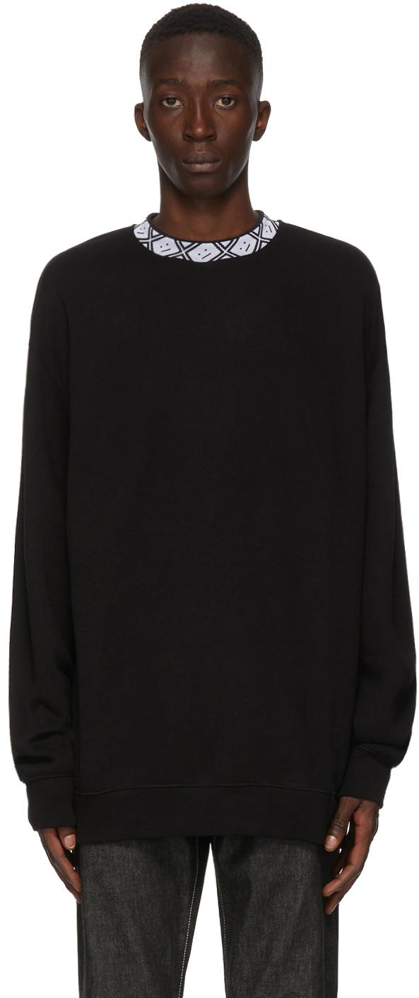 Acne Studios Black Motif Mock Neck Sweatshirt