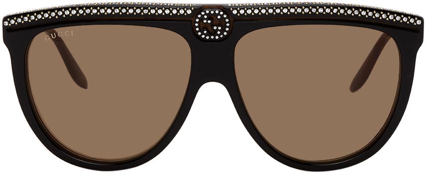 Gucci Black Flat Top Sunglasses
