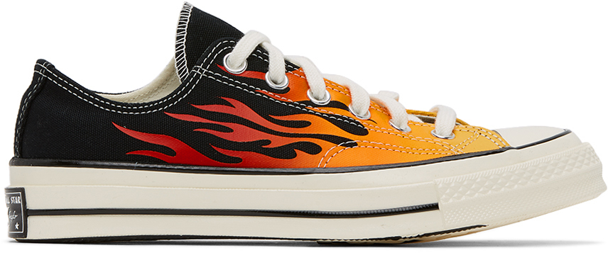 Converse Black & Red Flame Chuck 70 Low Sneakers