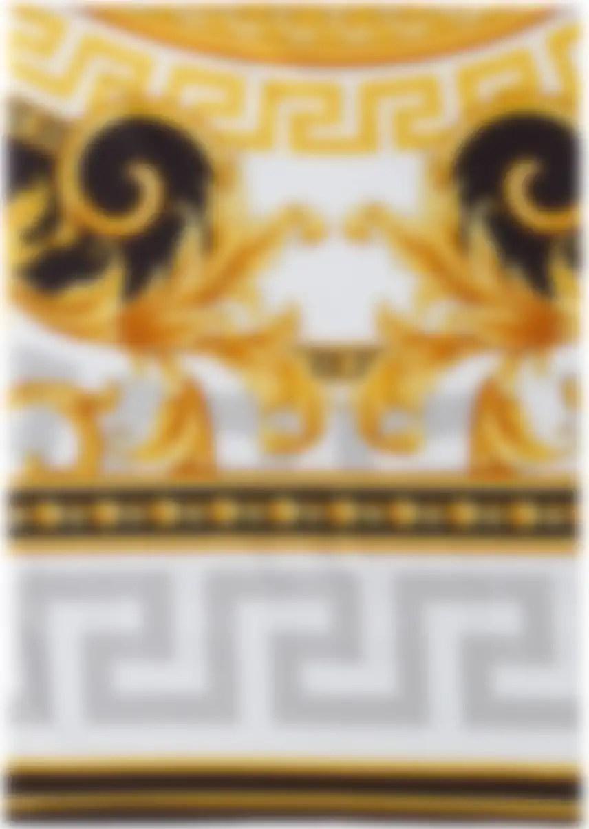 Housse De Couette Noire Et Doree Medusa 160 X 200 Cm Par Versace