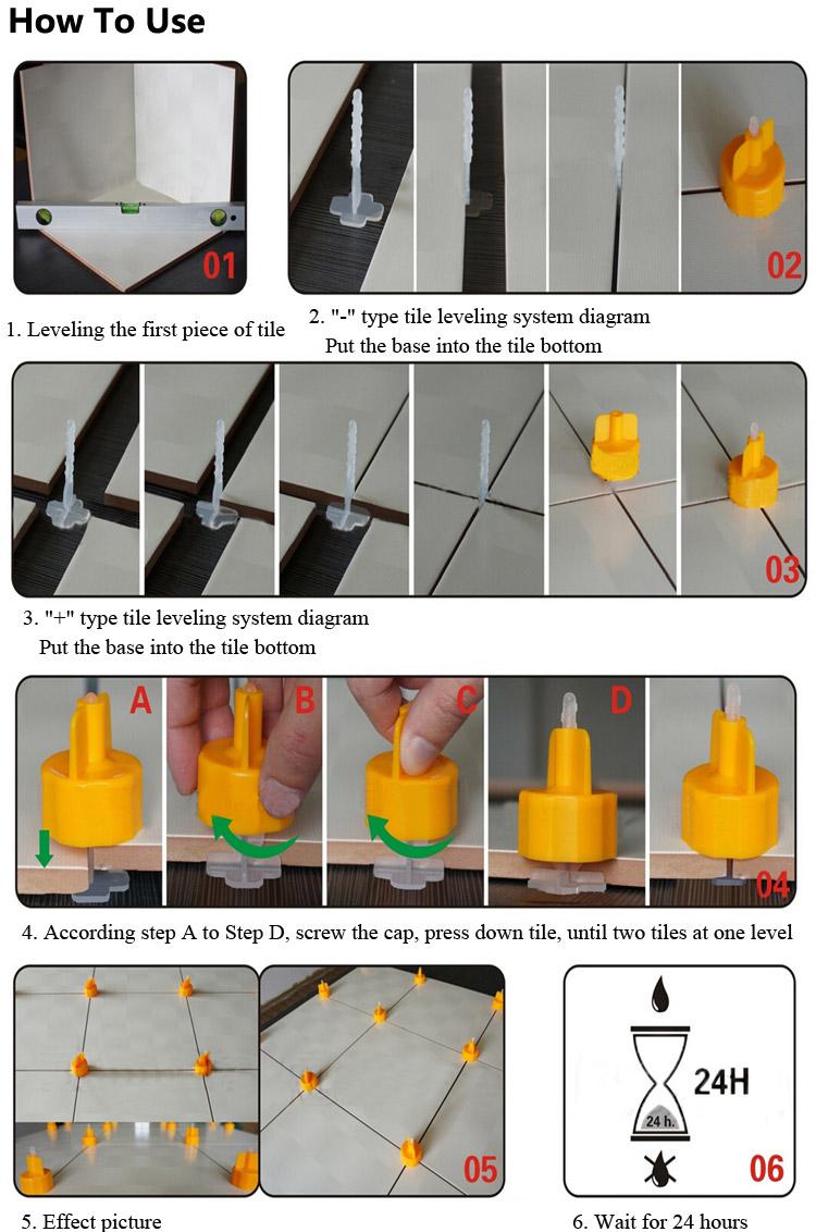 100pcs ceramic tile leveling tool