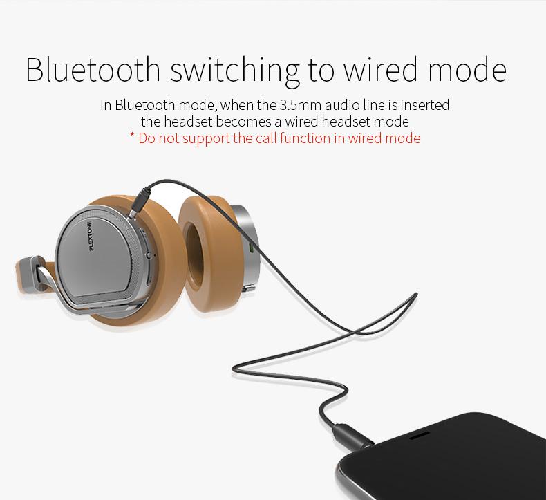 Plextone BT270 Wireless Bluetooth Headphone 800mAh 8G RAM MP3 Heavy Bass Headset for iPhone Samsung 14