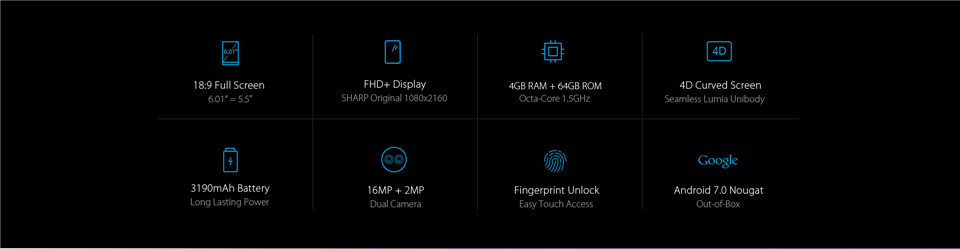 KOOLNEE K1 6.01 Inch 4GB RAM 64GB ROM MTK6750T 1.5GHz Octa Core 4G Smartphone