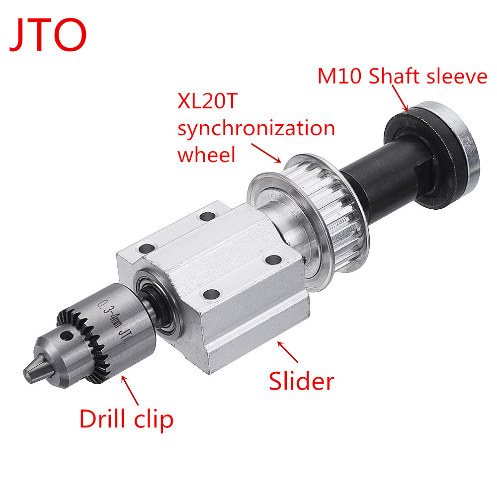 Machifit No Power Spindle Assembly Small Lathe Accessories Trimming Belt JTO/B10/B12/B16 Drill Chuck Set 40