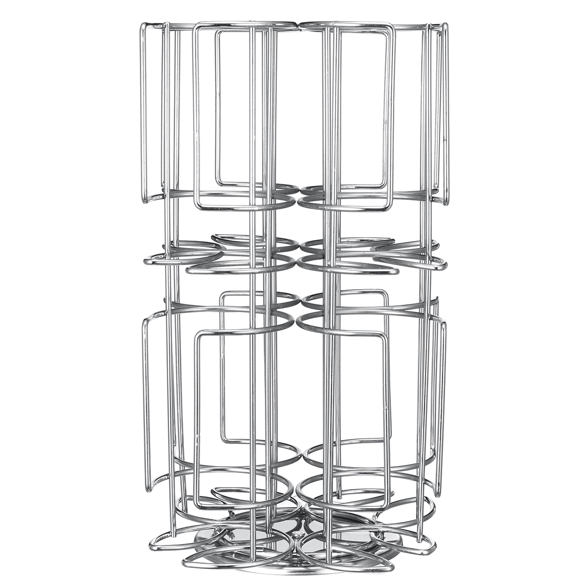 Coffee Capsule Cup Holder Storage Stand Chrome Tower Mount
