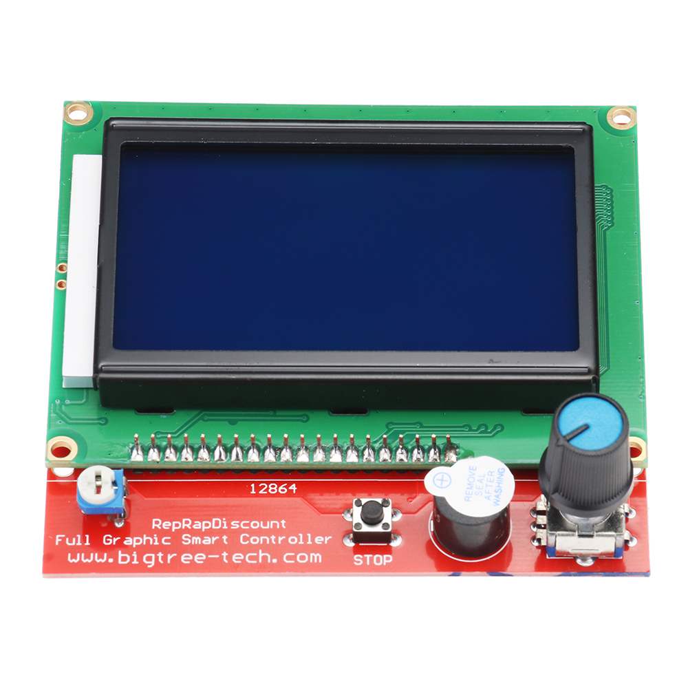 LCD 12864  Display + Mega2560 R3 + Upgrade Ramps 1.6 Base On Ramps1.5 Control Mainboard Kit with 5Pcs A4988 Driver for Reprap 3D Printer 34