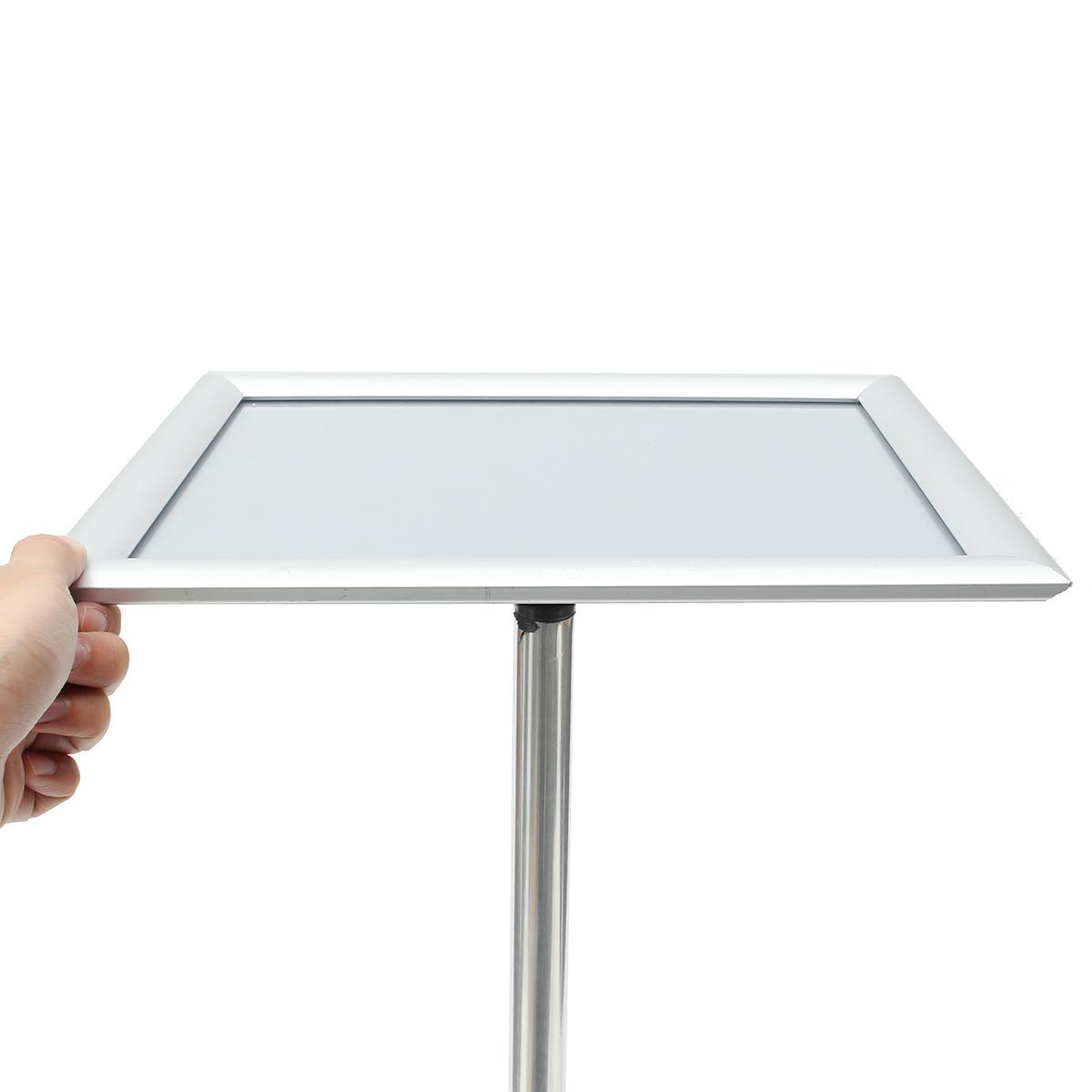Adjustable A4 Metal Display Pedestal Sign Floor Holder