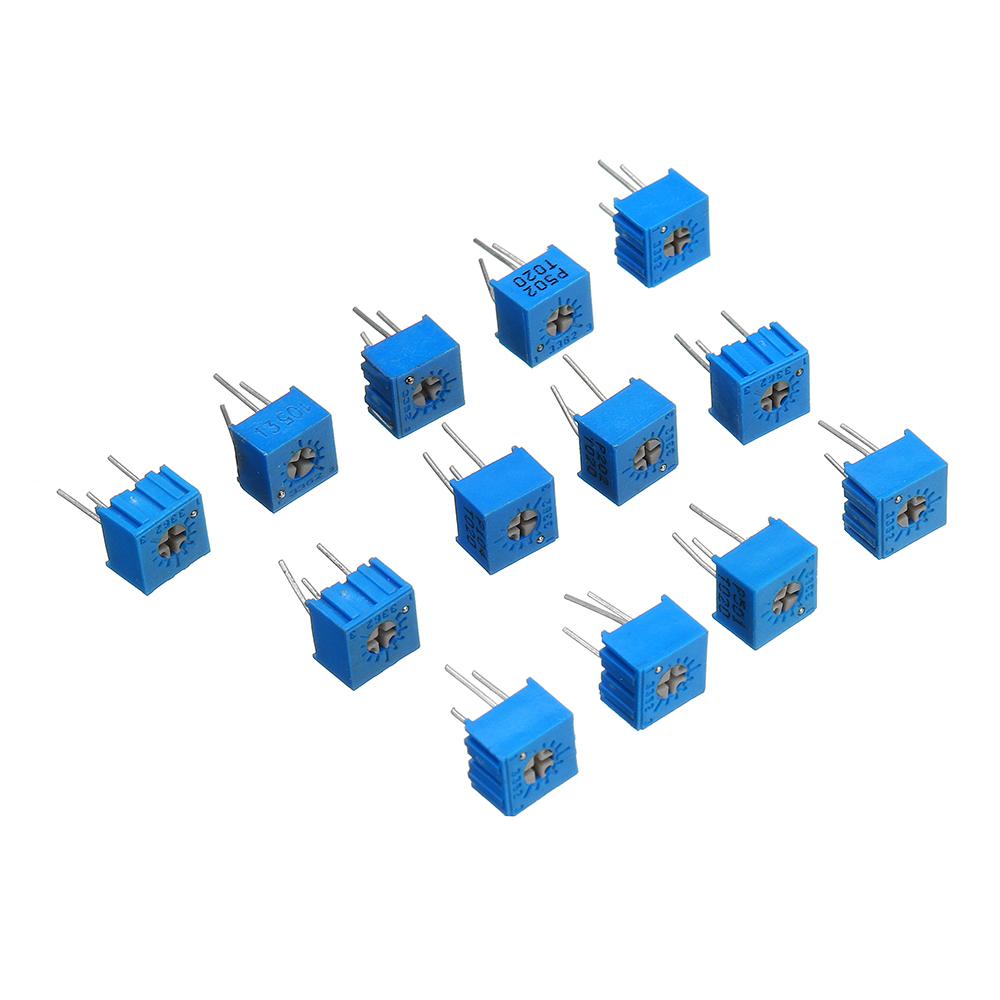 39Pcs 100R-1M Each 1 3362 Potentiometer Package 3362P Adjustable Resistor 27