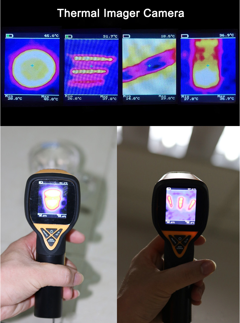 HT-175 Infrared Thermal Imaging Camera Digital Thermal Imager -20~300℃ 1024P 32x32 IR Image Resolution 29