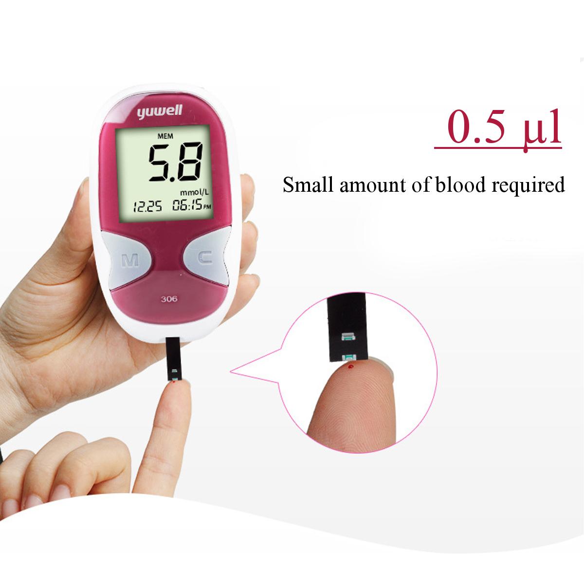 Original Blood Glucose Starter Kit Glucometer Sugar Meter Monitor Diabetes And 50 Test Strips
