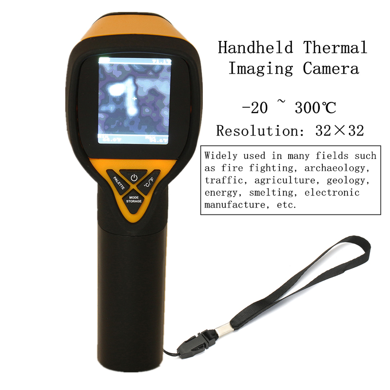 HT-175 Infrared Thermal Imaging Camera Digital Thermal Imager -20~300℃ 1024P 32x32 IR Image Resolution 27