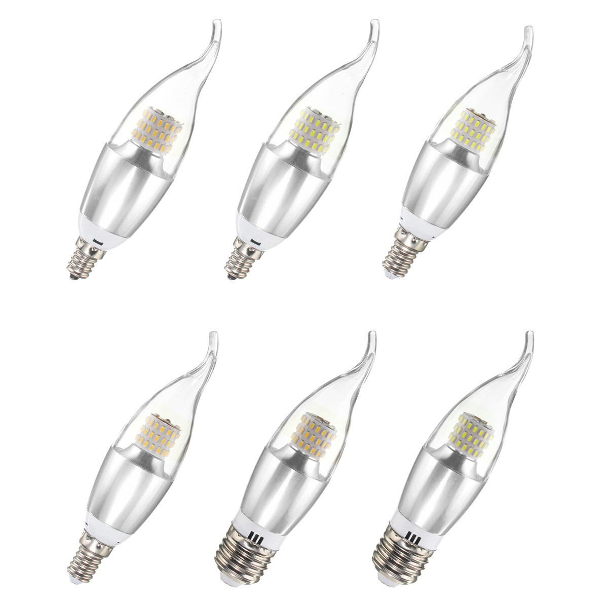 Dimmable E27 E14 E12 7w 60 Smd Led Pure White Warm