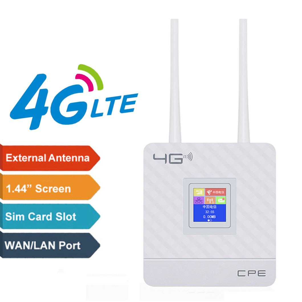 2.4G 4G LTE Wifi Router CPE Router Support for 20 Users with SIM Card Slot Wirelss Wired Router 24