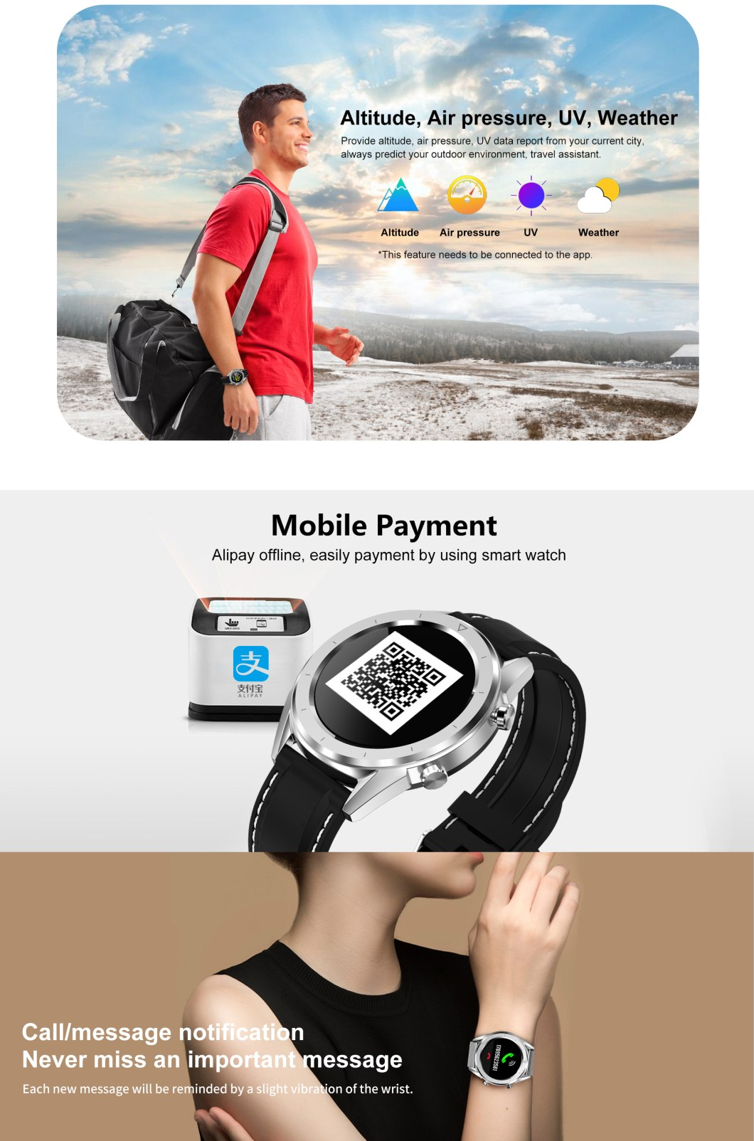 DT NO.1 DT28 1.54 Big Display Smart Watch ECG Monitor HR Blood Pressure Mobile Payment Watch 40