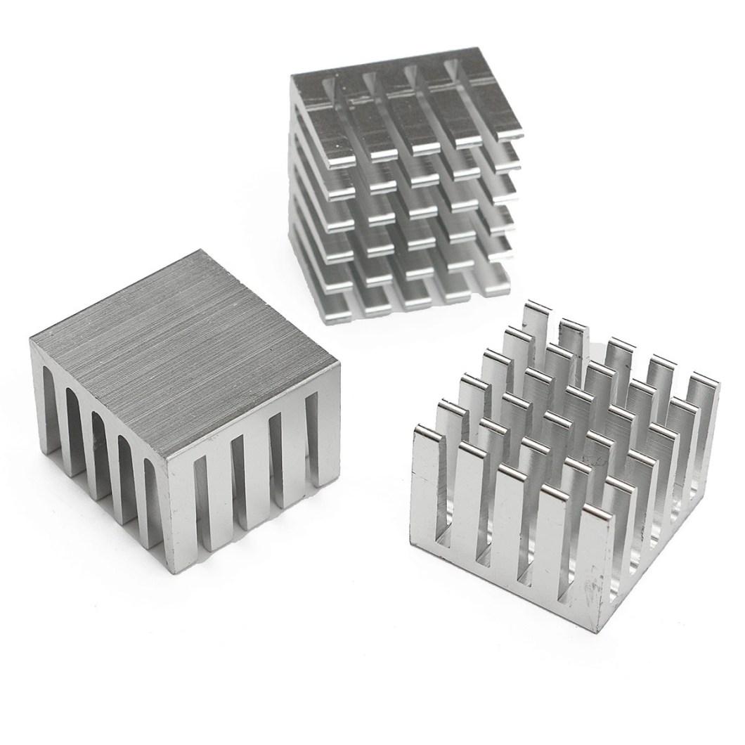 20pcs 20x20x15mm DIY CPU IC Chip Heat Sink Extruded Cooler Aluminum Heat Sink 21