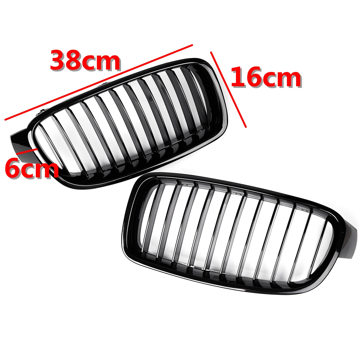 Pair Gloss Black Front Kidney Grille For Bmw F30 F31 F35