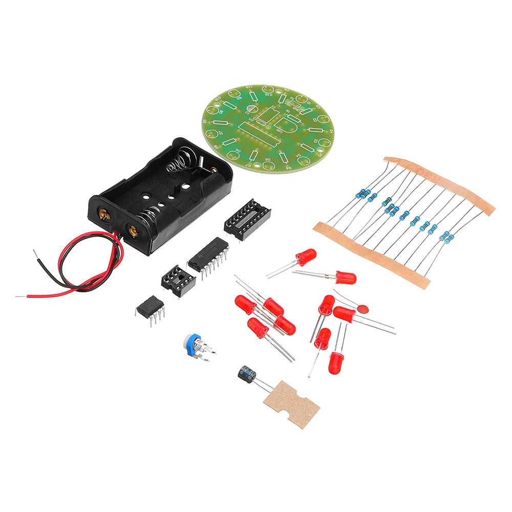 DIY 4017 Running Water Light NE555 LED Horse Race Lamp Flash Kit 40