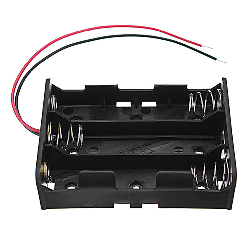 10pcs DC 11.1V 3 Slot 3 Series 18650 Battery Holder High Quality Battery Box Battery Case With 2 Leads And Spring CE RoHS Certification 13