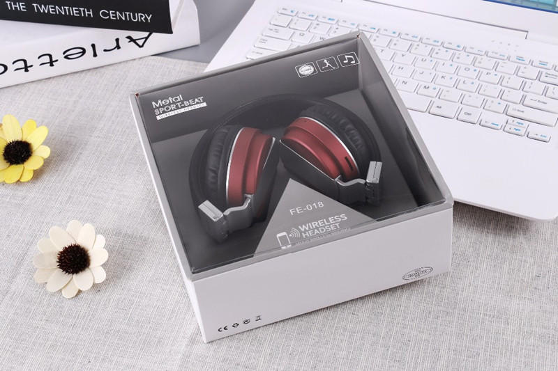 FE-018 Portable Foldable FM Radio 3.5mm NFC Bluetooth Headphone Headset with Mic for Mobile Phone 18