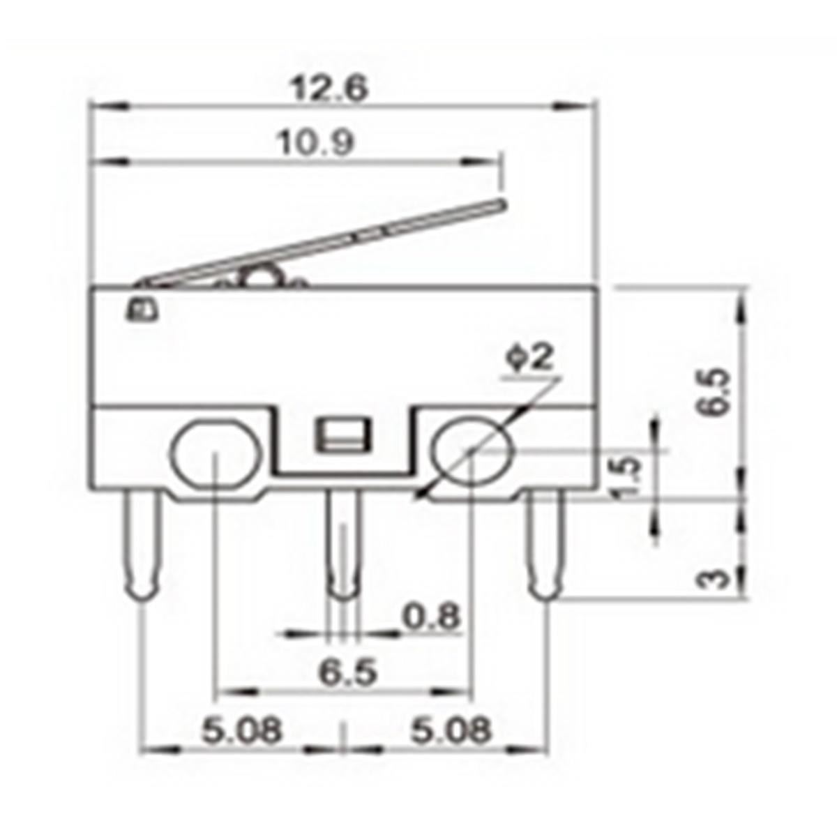 1a 250vac 2a 30vdc Spdt 1no 1nc Mini Micro Switch Short