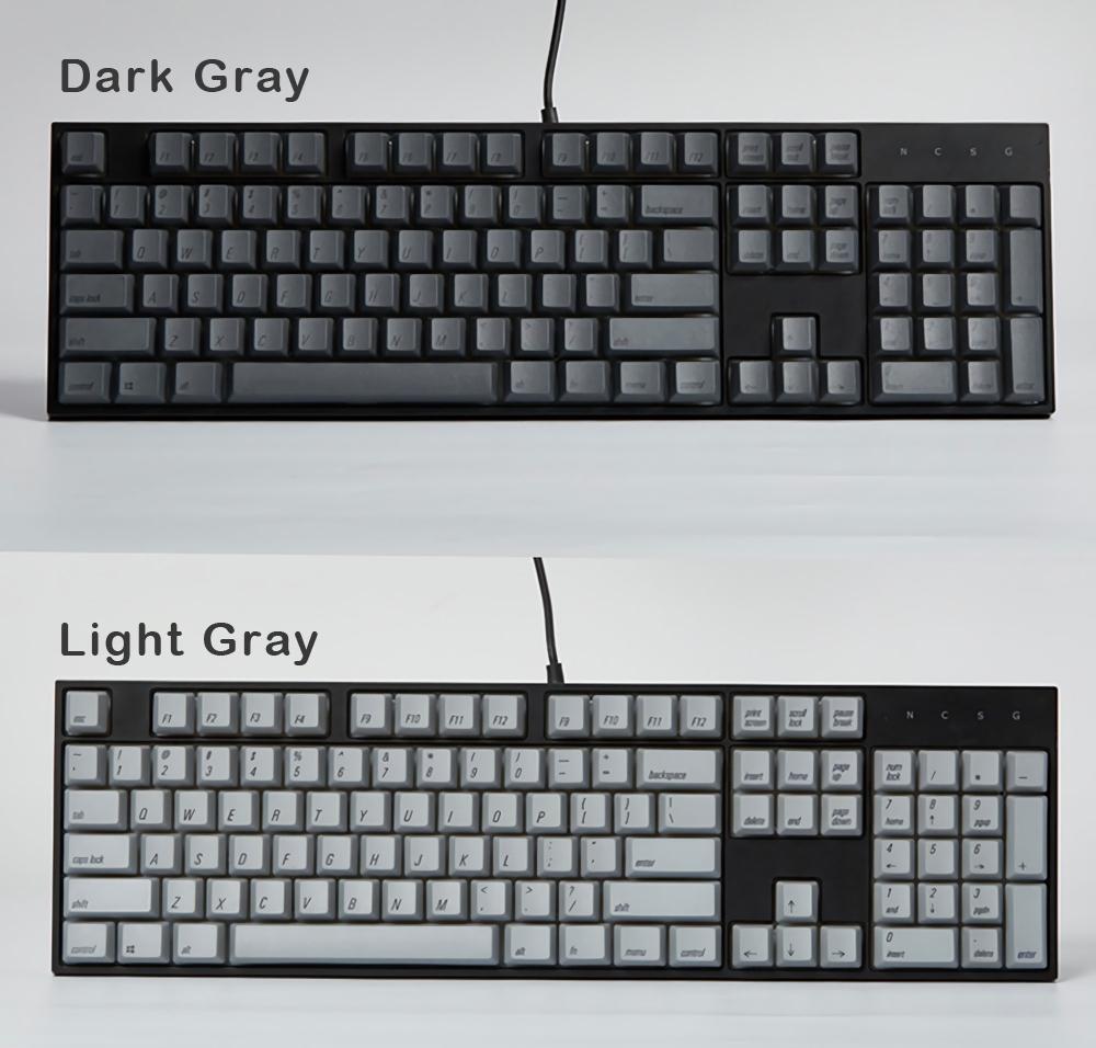 Magicforce 108 Key White Color Green Fonts Dye-sub PBT Keycaps