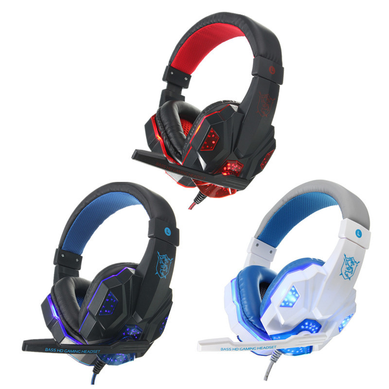 USB 3.5mm LED Surround Stereo Gaming Headset Headbrand Headphone With Mic 10