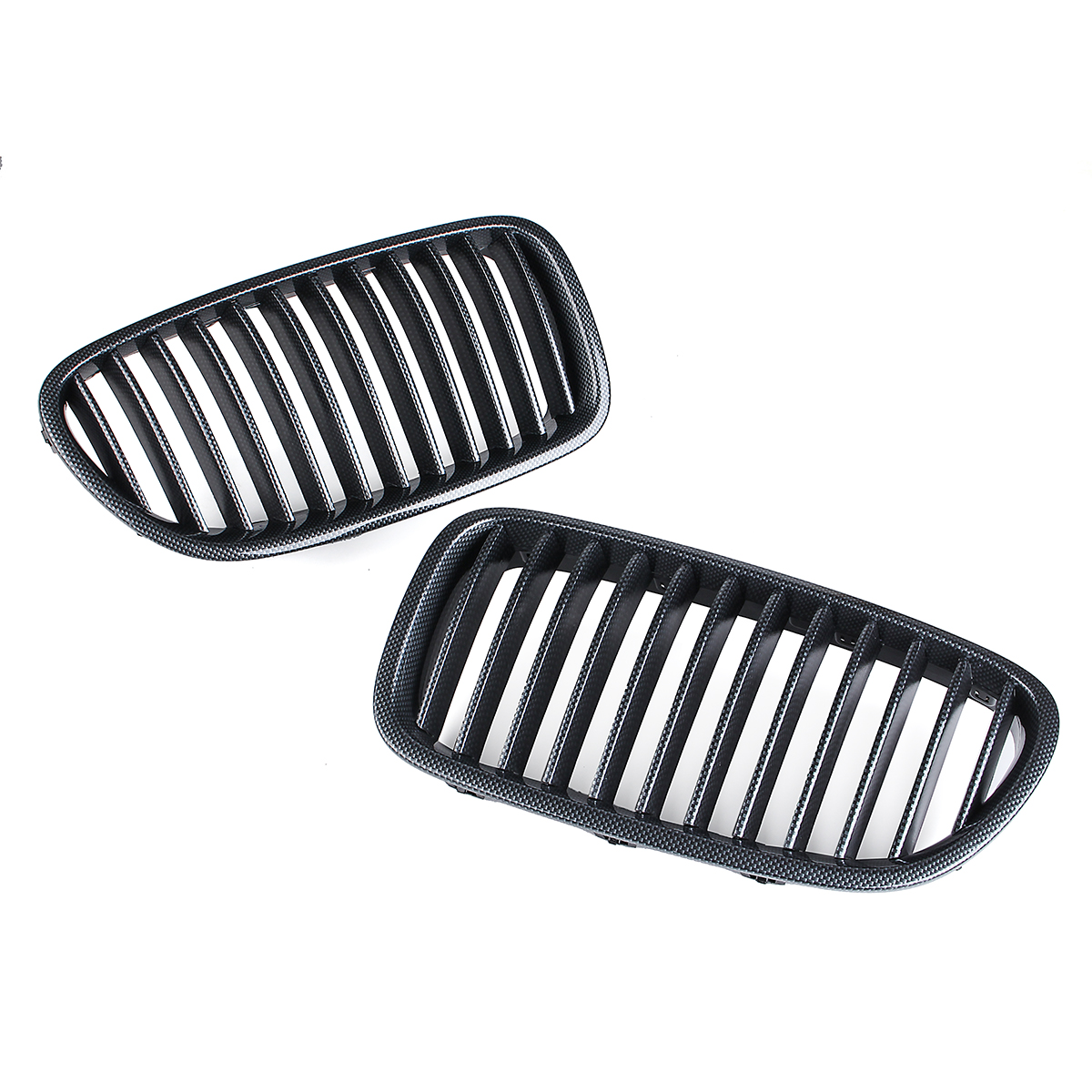Pair Carbon Fiber Abs Front Kidney Grille For Bmw F18 F10 F11 5 Series Sale
