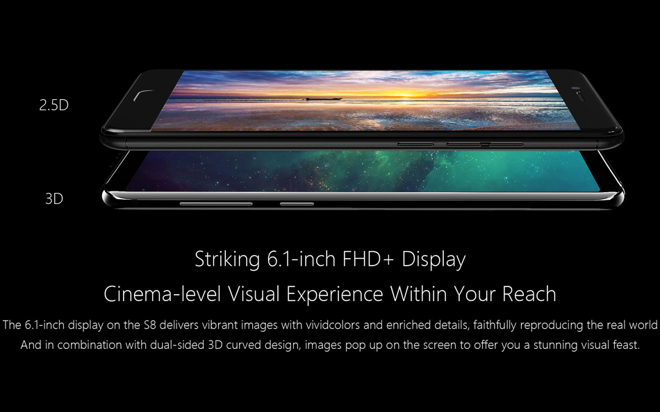 Meiigoo S8 6.1 Inch 3.0D Glass Bezel-less 4GB RAM 64GB ROM MTK6750T 1.5GHz Octa-Core 4G Smartphone