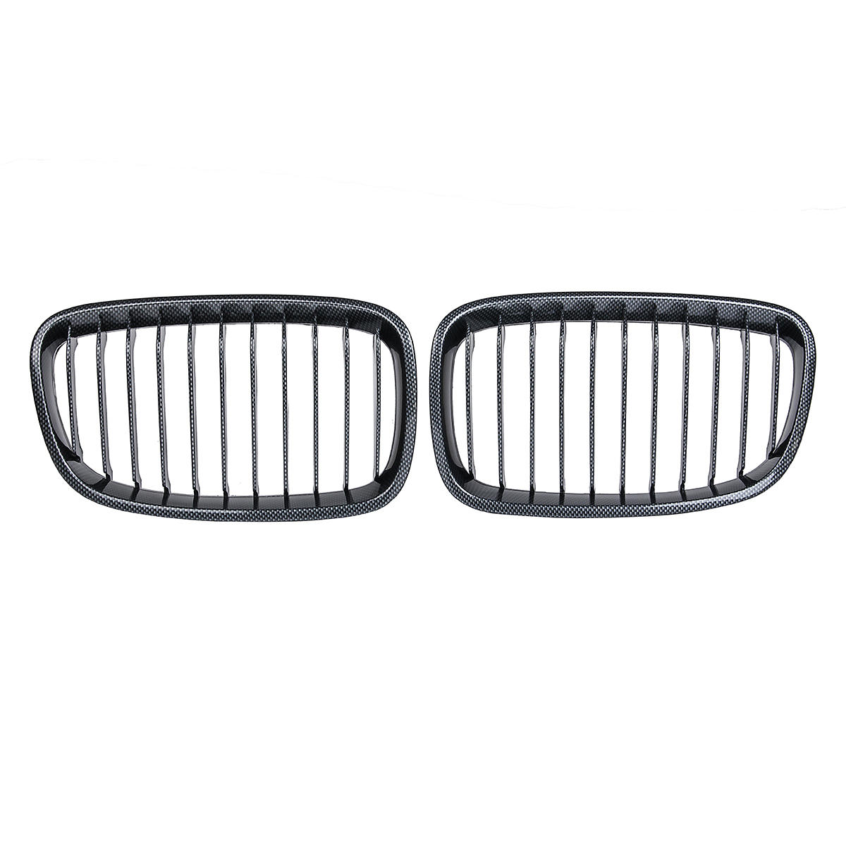 Pair Carbon Fiber Abs Front Kidney Grille For Bmw F20 F21 Sale