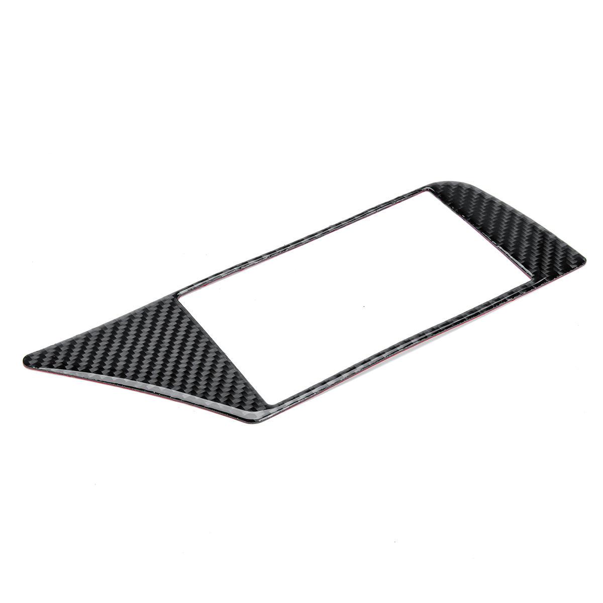 Carbon Fiber Gps Navigation Panel Frame Cover Car Stickers For Audi A4 B8 Sale