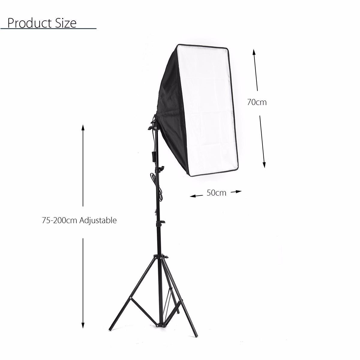 Photo Video Studio Lighting Kit 4 Socket E27 Lamp Holder Softbox Light Stands Sale