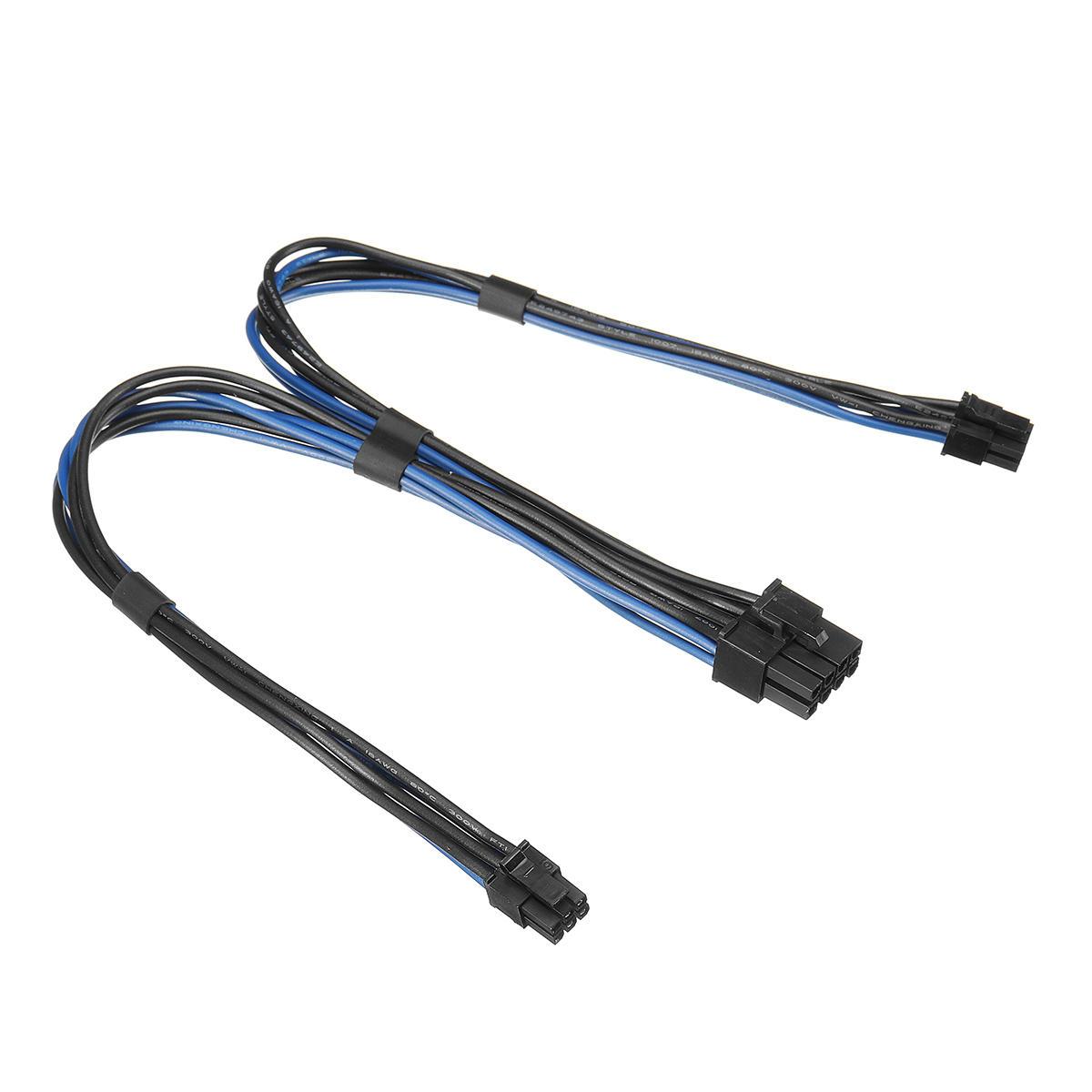 18awg Dual Mini 6 Pin Pci E Male To 8 Pin Male Y Splitter