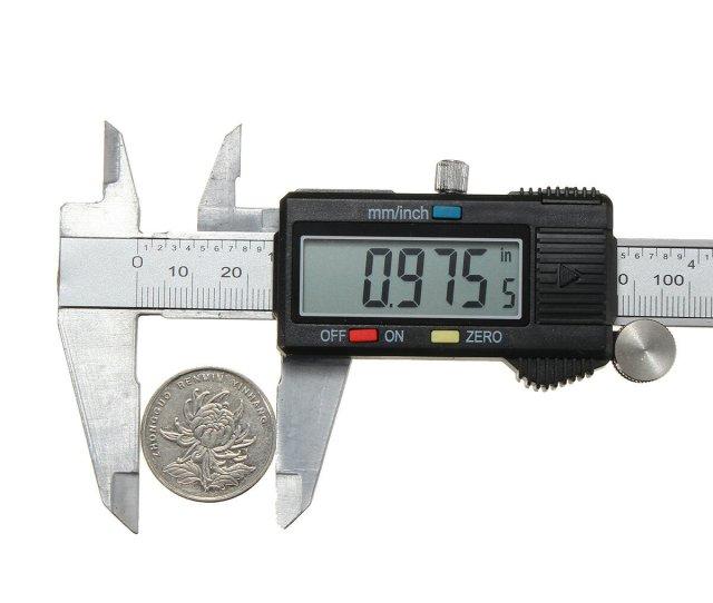 Mm Digital Inoxidable Medidor Vernier Calibrador Electronico Micrometro Medida