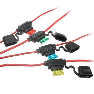Waterproof Car Auto 10 15 20 30A Amp In Line Blade Fuse Holder Fuses - 15