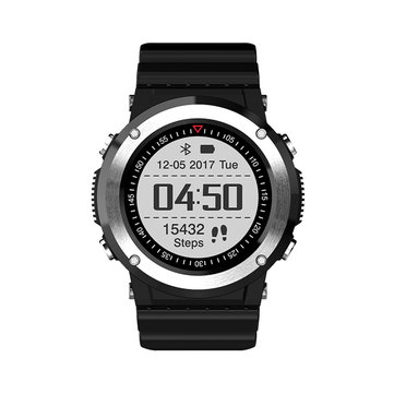 Newwear Q6 1.0inch GPS Compass Heart Rate Monitor Sports Mode Fitness Tracker bluetooth Smart Watch Silver
