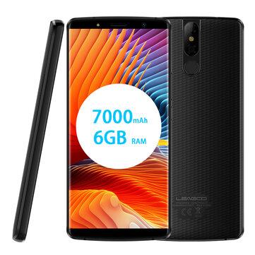 Leagoo Power 5 5.99 inch Android 8.1 Wireless Charging 7000mAh 6GB RAM 64GB ROM MT6763 Smartphone