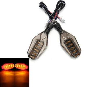 1 Pair 12V Universal Motorcycle LED Turn Signal Indicator Lights