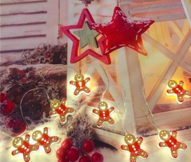 M Battery Supply Red Snowman Shape Christmas Tree Party Holiday  Led String Light Indoor Lamp