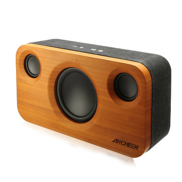 ARCHEER A320 25W 5200mAh Bamboo Bluetooth Speaker Portable Subwoofer HIFI Stereo Audio Power