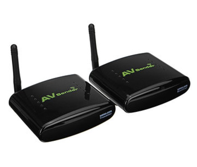 Pat  4ghz Av Rca Tv Audio Video Signal Sender Wireless Transmitter Receiver
