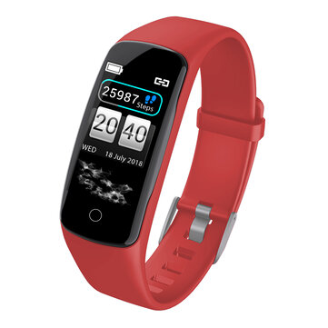 XANES® V8 0.96'' Color Screen IP67 Waterproof Smart Watch PPG Heart Rate Blood Pressure Oxygen Monitor Antilost Stopwatch Sports Fitness Bracelet Red