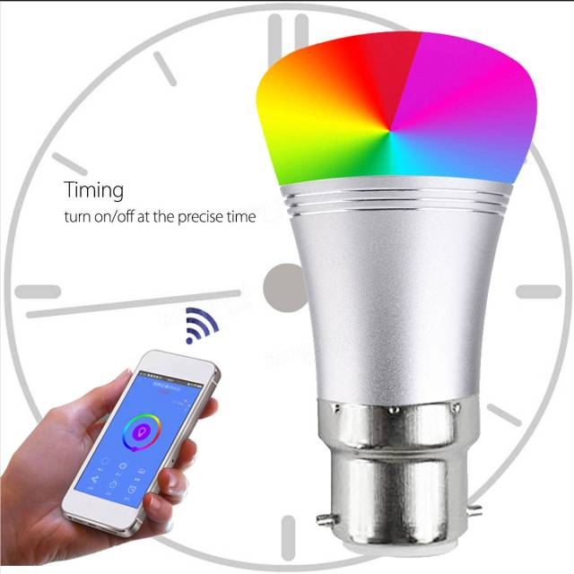 B22 7W RGBW WIFI LED Smart Light Bulb with Echo Alexa Google Home AC85-265V