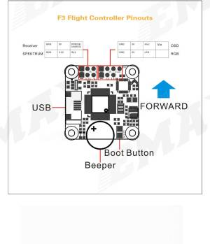 Emax F3 Magnum Mini Tower System 20x20mm 34S BLheli_S 12A 4 In 1 ESC  F3 Flight Controller OSD