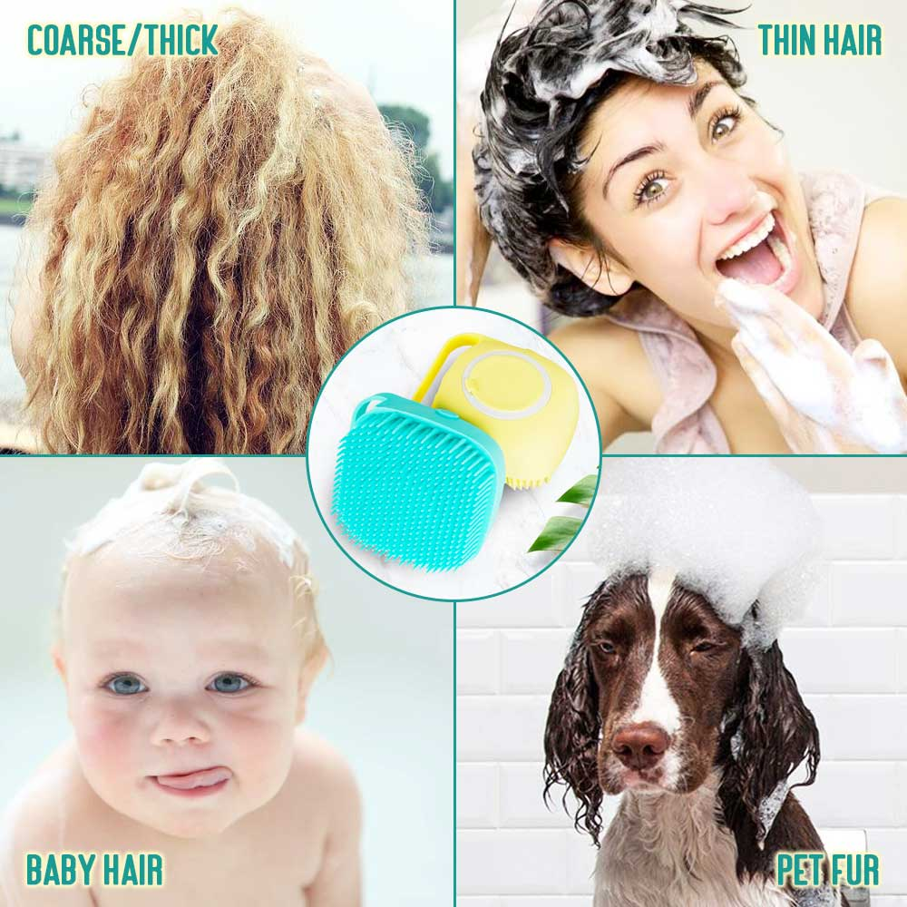 Silicone Massage Bath Brush Liquid Soap Dispenser(Buy 4 Free Shipping)-aolanscctv