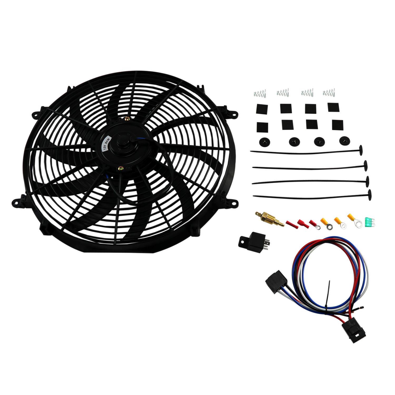 Universal Slim 16 Pull Push Radiator Engine Bay Cooling